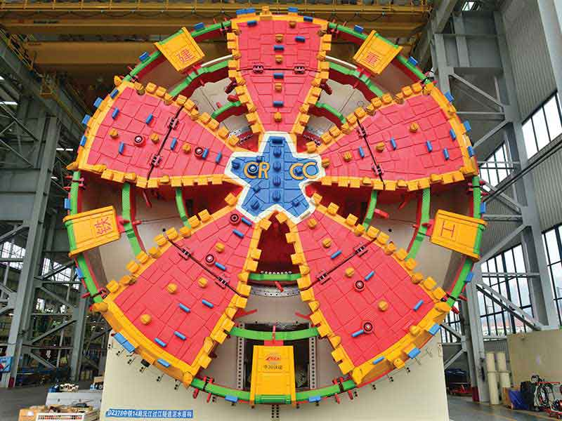 CRCHI TBMs used in Under River Tunnel Project of Yuan River in Changde in Hunan Province, China, for customer CRCC 14th Bureau Group