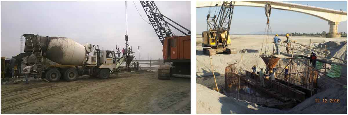 Construction of New Brahmaputra Bridge