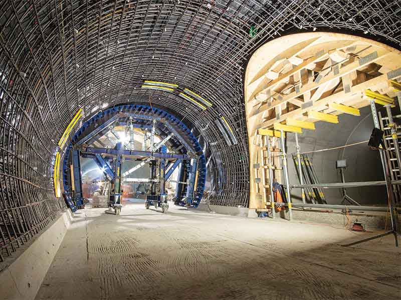 Doka's formworks for tunnel system at CERN