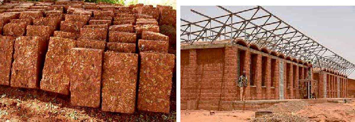 Red Laterite stone construction