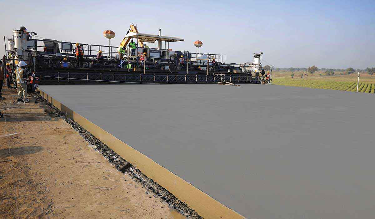 Patel Infrastructure Creates World Record for Laying Pavement Quality Concrete