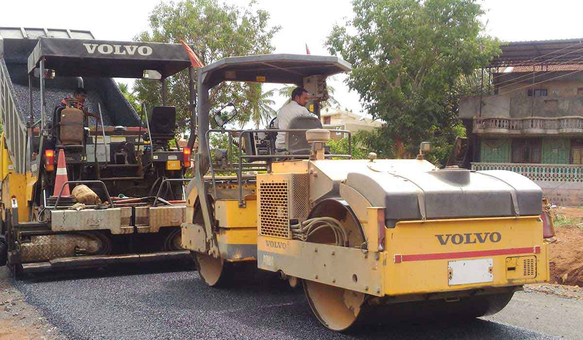 Volvo CE machines helped in constructing