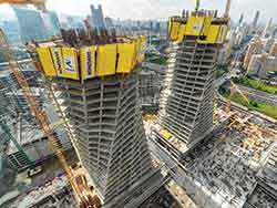 Doka's formwork solutions deployed for special design of two towers of New VakifBank headquarters