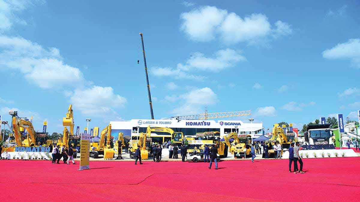 Komatsu, L&T and Scania display technological strengths