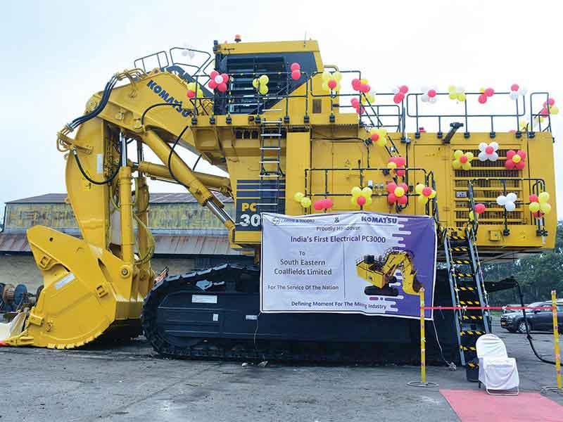 L&T delivers Komatsu's first  300-ton Electrical Shovel in India to SECL-Gevra