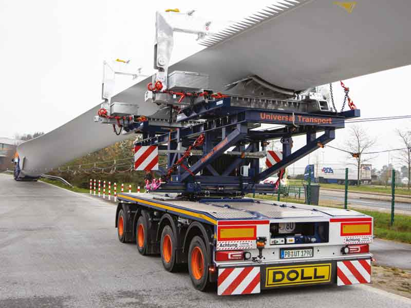 DOLL wind blade transport systems offer flexible solutions for challenging situations