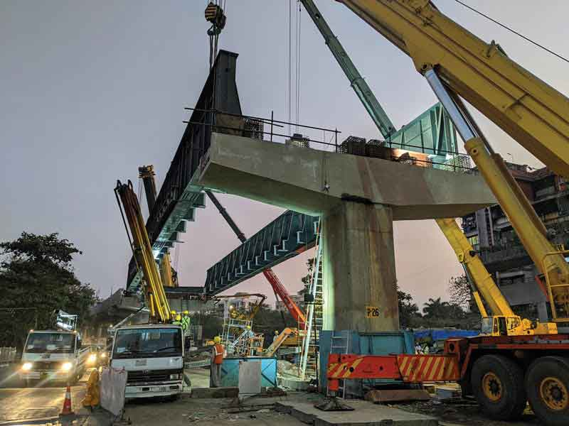 Mumbai Metro Line 2A Use of precast construction in urban infrastructure projects