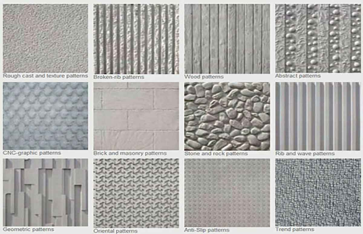 patterns of concrete