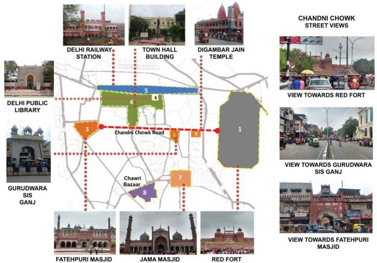 chandni chowk Important Landmark Buildings