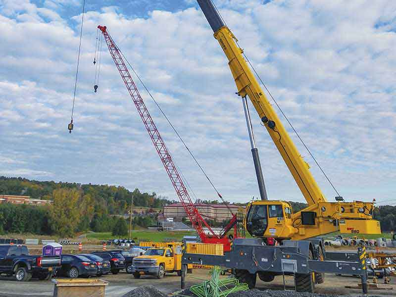Yonkers Contracting Company boosts job site efficiency with Grove GRT880 on New York Route 17 road project