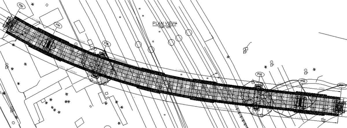 Extradosed bridge plan view
