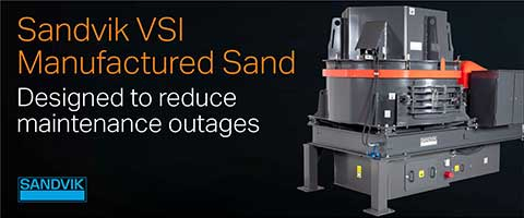 Sandvik Autogenous VSI CV200 Series – Designed to reduce maintenance outages.