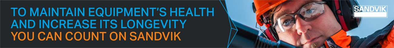 Sandvik to maintain equipment's health and increase its longevity