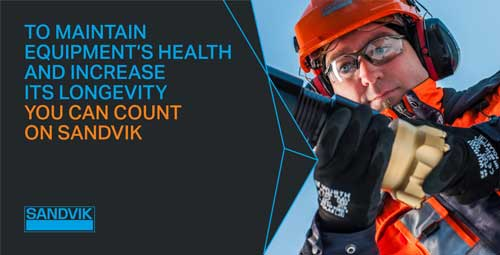 To maintain equipment's health and increase its longevity, you can count on Sandvik