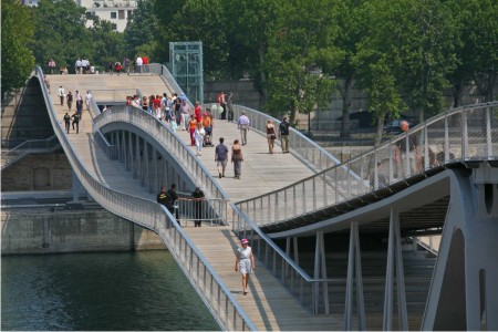 Glorious Simone De Beauvoir Footbridge