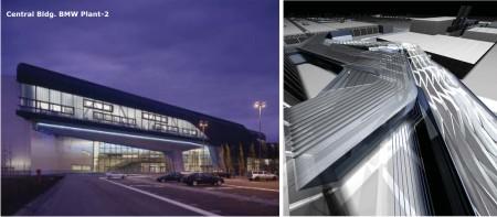 deconstructive architecture. Central Building - BMW Plant Deconstructive Architecture