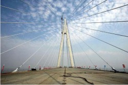 Cable-stayed S-shaped Bridge