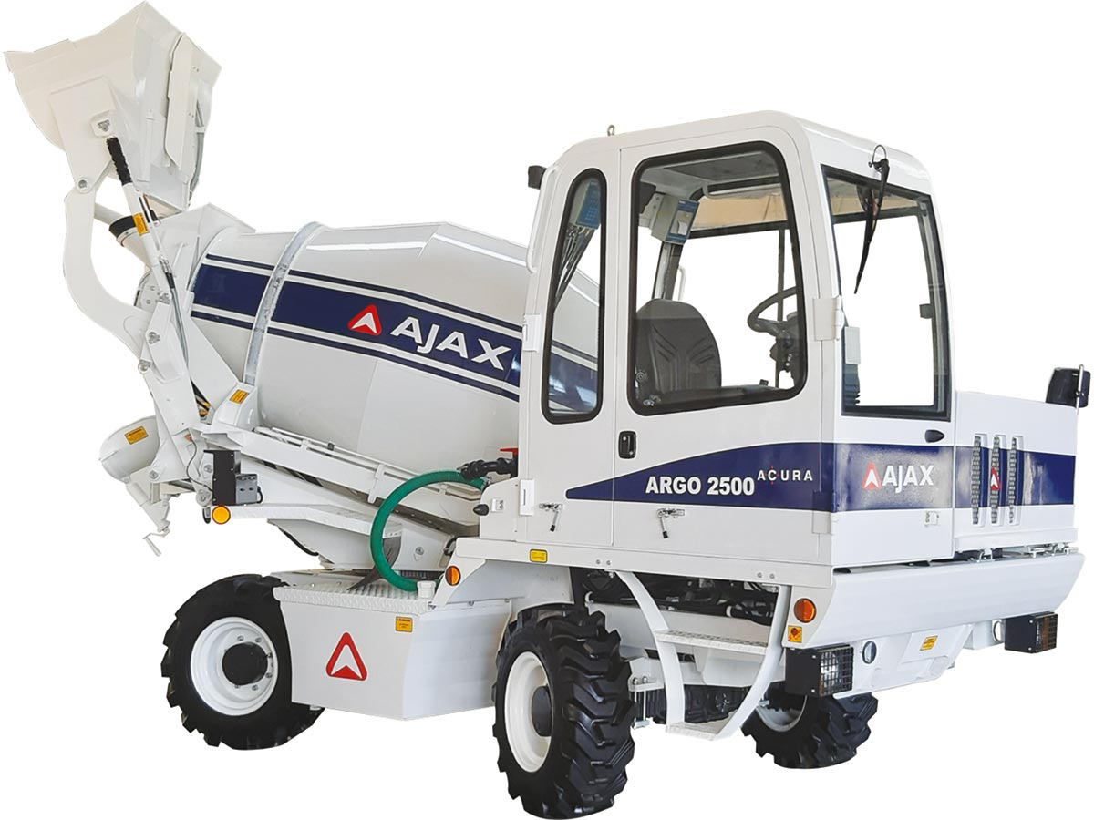 Self Concrete Mixer: AJAX Soaring Up New Heights!
