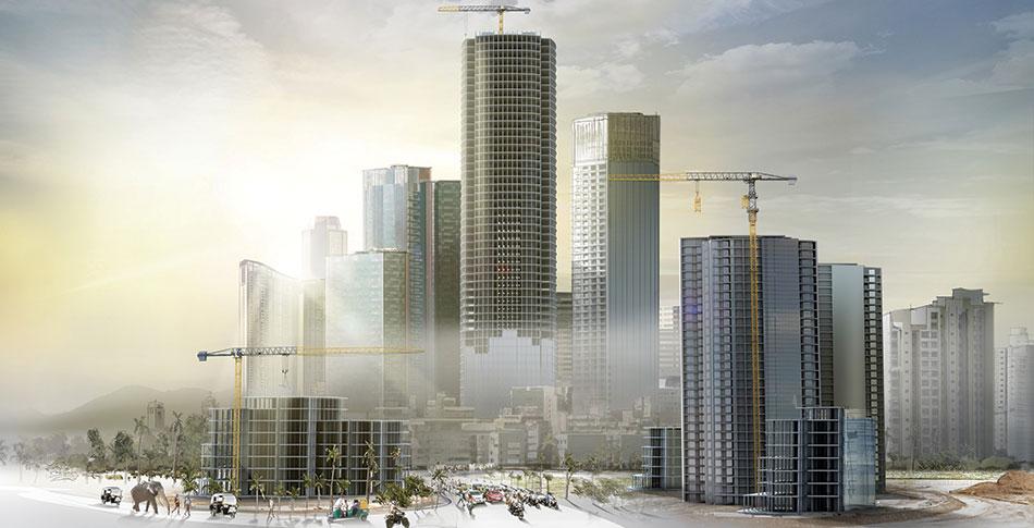 Vertical Construction Equipment - Concrete Pumps, Tower Cranes, Man