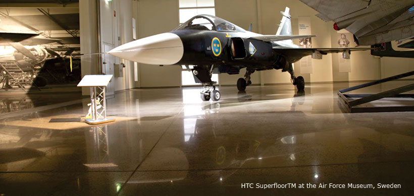 HTC SuperfloorTM at the Air Force Museum, Sweden