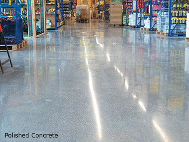 Polished concrete system
