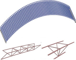 Arch type space truss