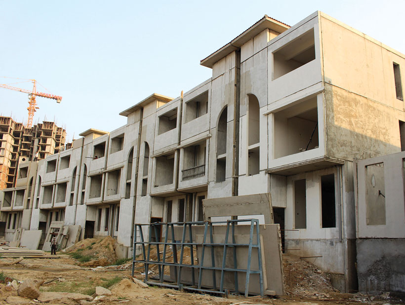 Affordable housing in india with precast construction for Affordable home construction