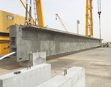 Infrastructure Project in Kuwait – Tecnocom moulds form bridge girders at Nawaseeb Road