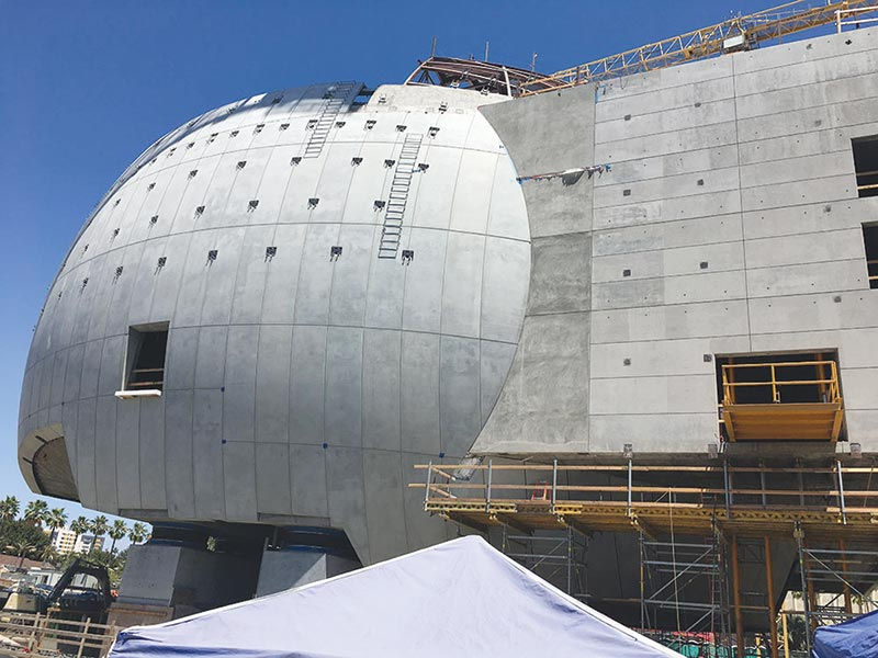 A Sight to See - Precast concrete enhances the beauty of the Academy Museum of Motion Pictures