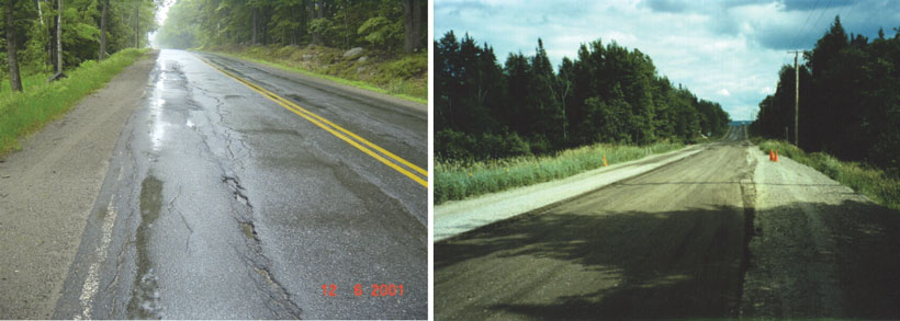 Road Before FDR And Recycled Layer After FDR