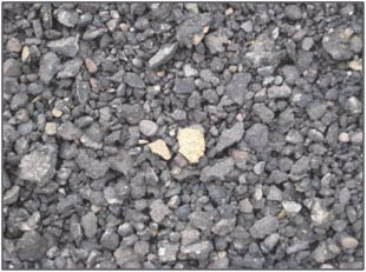 Figure 1: Processed aggregate derived from recycling of asphalts pavement