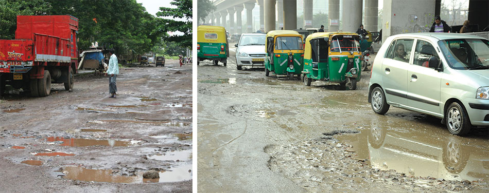 Why do many roads constructed in India fail prematurely?