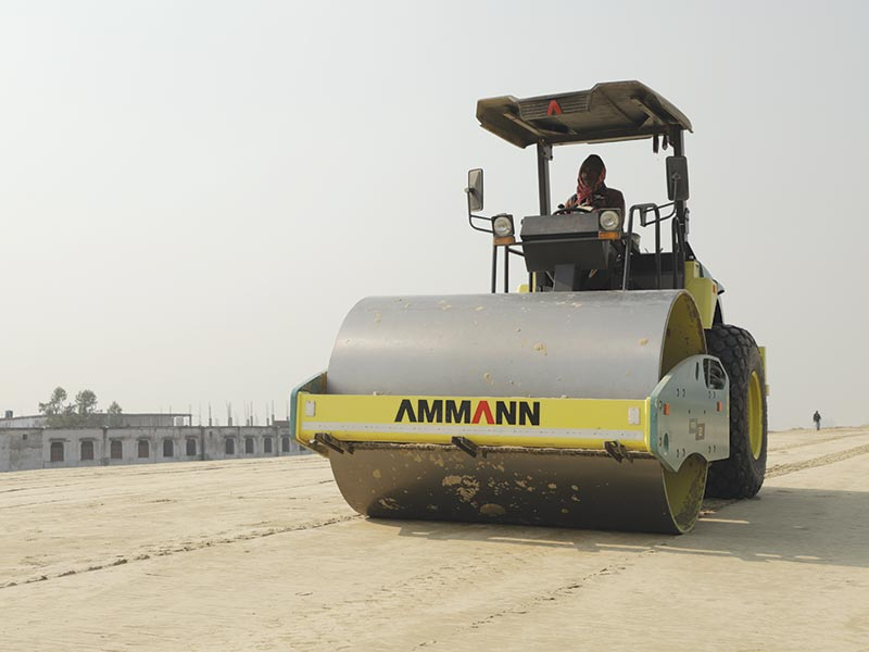 Ammann ARS 121 Soil Compactors deployed at 354-km Purvanchal Expressway
