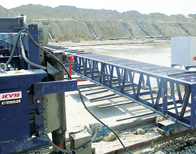 KYB-Conmat's Advanced Mechanization Parallel Lower Ganga Canal Lining Project