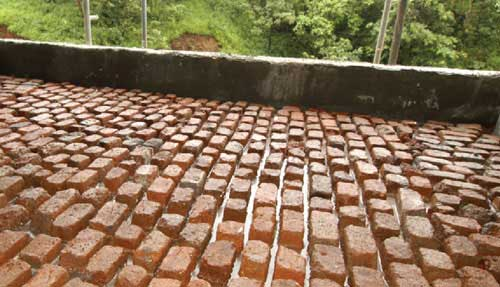 why brick bat coba not the correct method for terrace