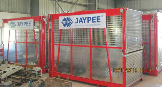 Jaypee introduces Passenger and Material Hoist