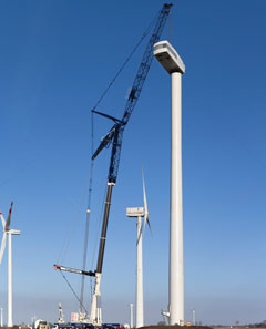 Mobile Crane For Wind Turbine