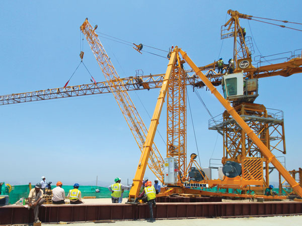 India's first Liebherr Derrick Crane