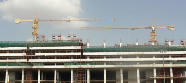 Potain Tower Crane at Wave One Commercial Project at Noida