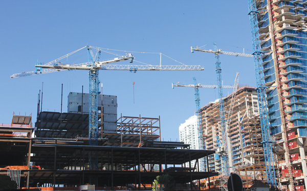 Terex Tower Cranes at City Centre Project Miami