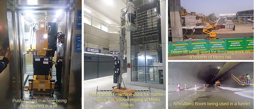 Applications of Aerial Work Platforms in Metro Rail Systems