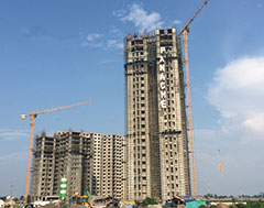 Three Potain MCT 85 cranes help deliver luxury residences in India