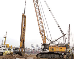 Liebherr Duty Cycle Crawler Crane Deployed for Port Expansion in India