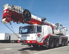 Grove GMK4100L all-terrain cranes suitable for congested areas
