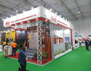 Everest Engineering Equipment displays tower cranes, passenger hoists, and anti-collision systems for catering to the growing pre-cast market, at bauma Conexpo India 2018.