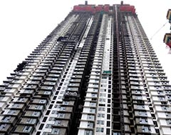 NEW AGE gondolas serve prestigious Trump Tower project of - Lodha Group in Mumbai