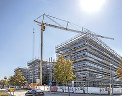Liebherr mobile construction cranes tackle building retrofit