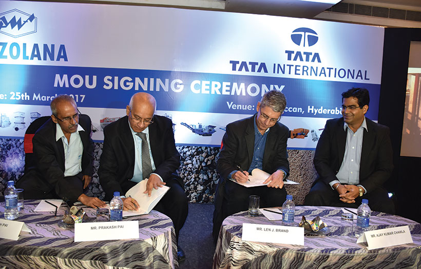 Puzzolana, Tata International MoU Signing Ceremony