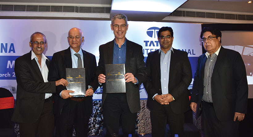 Puzzolana Collaborates with Tata International