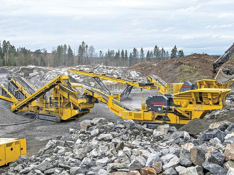 Keestrack assures lowest cost per ton with savings up to 70% with its latest Dual powered Tracked Crusher